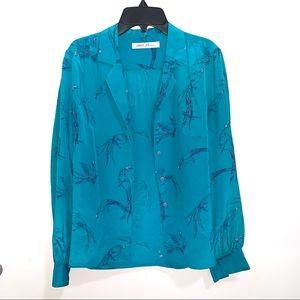 🌷5/$20 Women's Vibrant Blue Silk Top